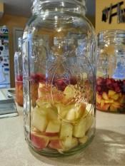 Honey crisp apples roughly chopped