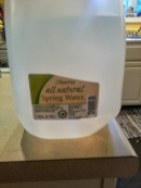 Spring water. Non Chlorinated. Man I miss having my own well.