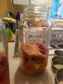 sugar added to peaches and cranberries