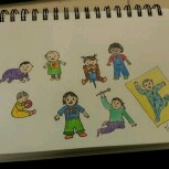 little people doodles