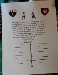 Memorial Tournament Scroll, AS 50, Pennsic