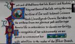 Silver Brooch, AS 51, John Barley Corn,detail