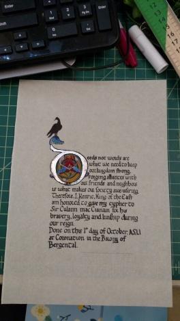 King's Cypher, AS 51, Fall Coronation
